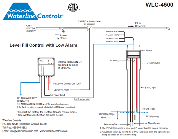 wlc4500 elect water lvl cntrl fill and low alarm flow diagram
