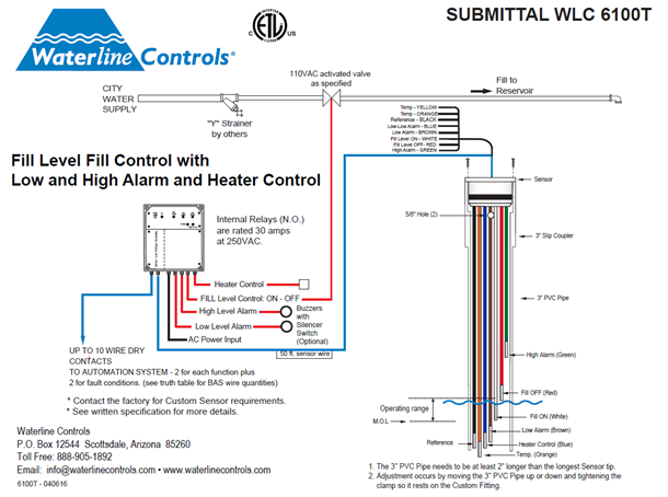 6100t flow wlc6100t fill high low alarms basin heater controls dry contact wiring diagram at bakdesigns.co