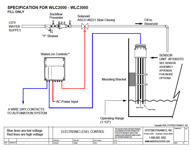 SWS3000 FILL ONLY Electronic Water Level Control